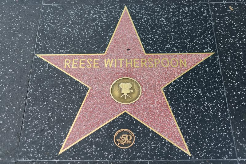 Reese Witherspoon star on the Hollywood Walk of Fame royalty free stock image