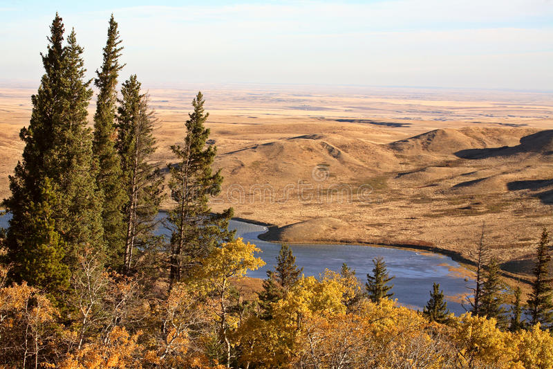 Reesor See Alberta im Fall lizenzfreie stockfotos
