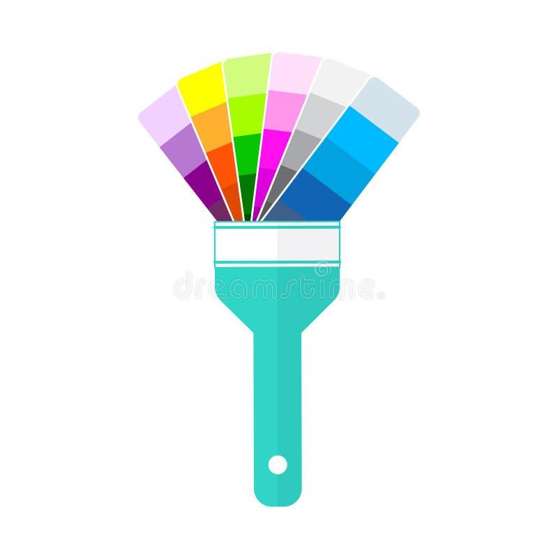 Refaire le service Brosse stylisée pour peindre sur le fond blanc Catalogue hybride des peintures et de la brosse pour la peintur illustration de vecteur