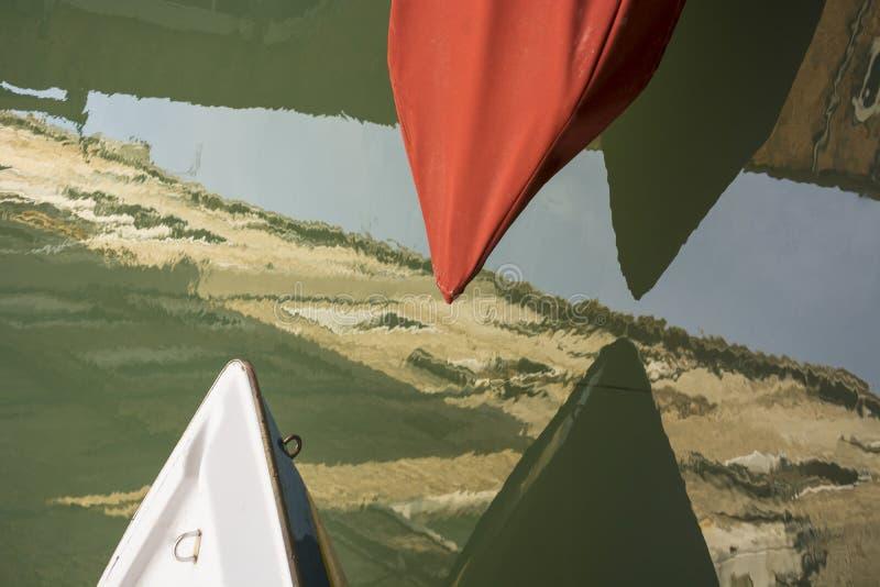 Refection de bateau de Venise image libre de droits