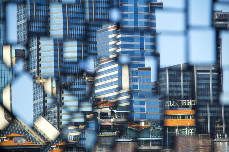 Refection of the Jacksonville, Florida Skyline stock images