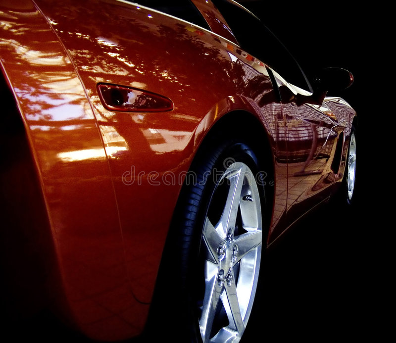 Refections in a show car. royalty free stock photos