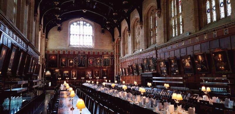 Refectorio, universidad de la iglesia de Cristo, Oxford, Inglaterra foto de archivo