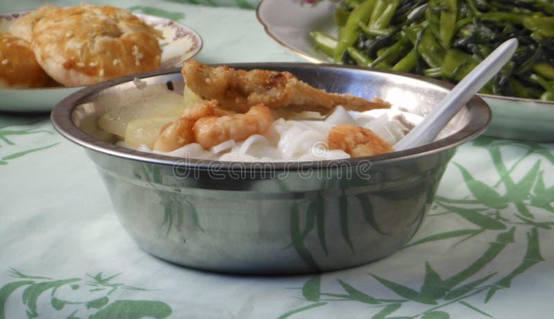 Refeição chinesa da sopa de macarronetes fotografia de stock