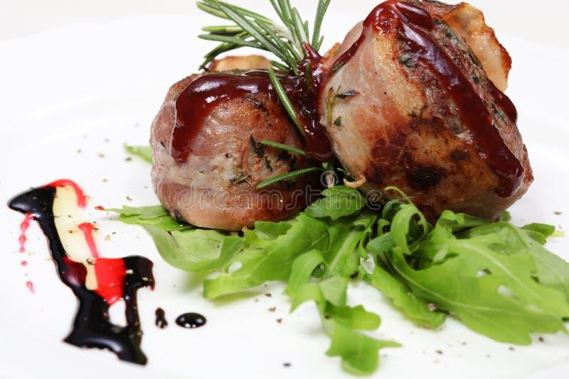 Refeição de jantar fina, cordeiro delicioso imagem de stock royalty free