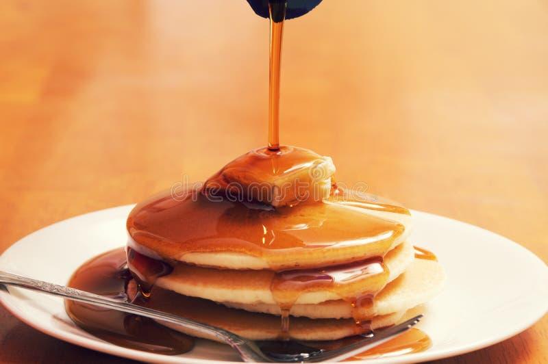Refeição de placa do café da manhã da panqueca imagens de stock