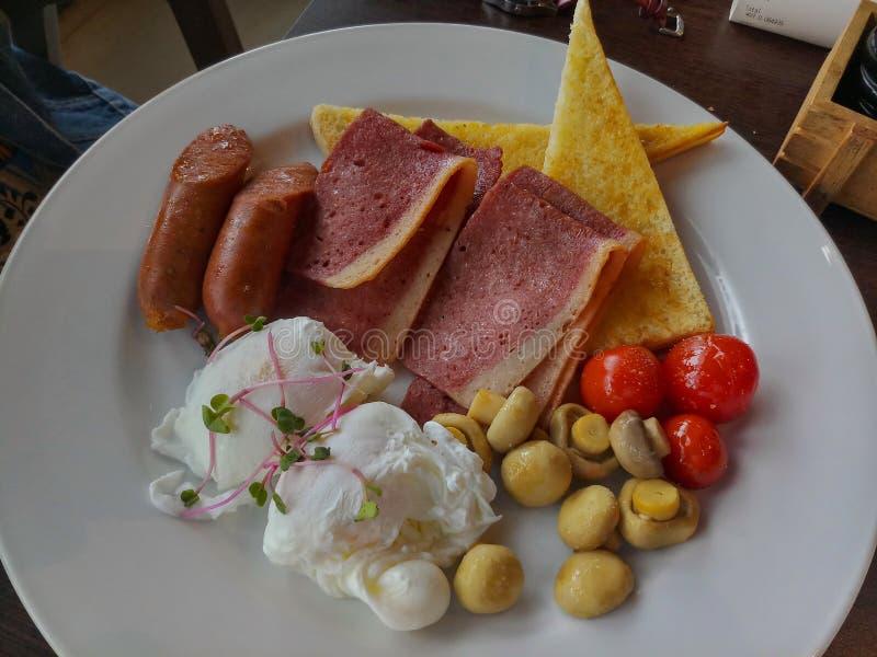 Refei??o do cogumelo da carne em lata e do tomate do beb? maldive fotos de stock royalty free