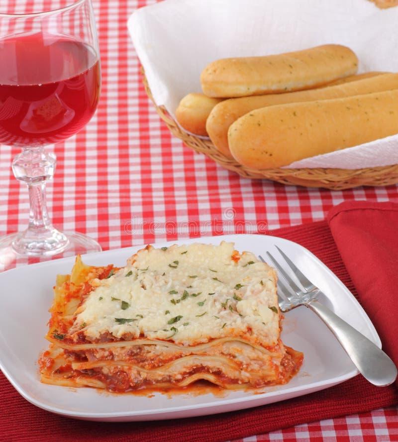 Refeição do Lasagna fotografia de stock royalty free