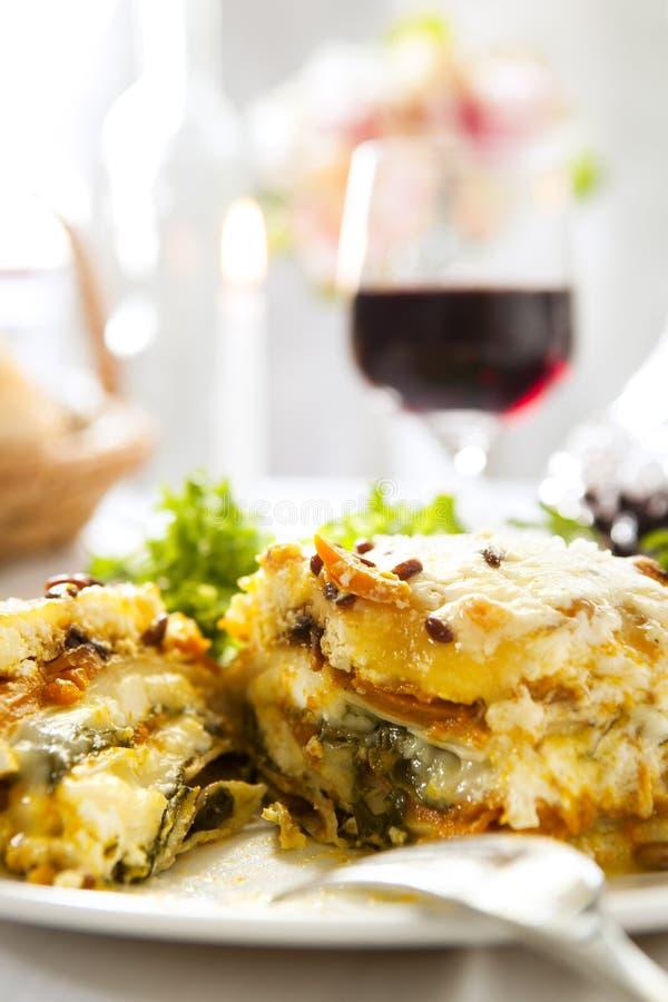 Refeição do Lasagne fotografia de stock