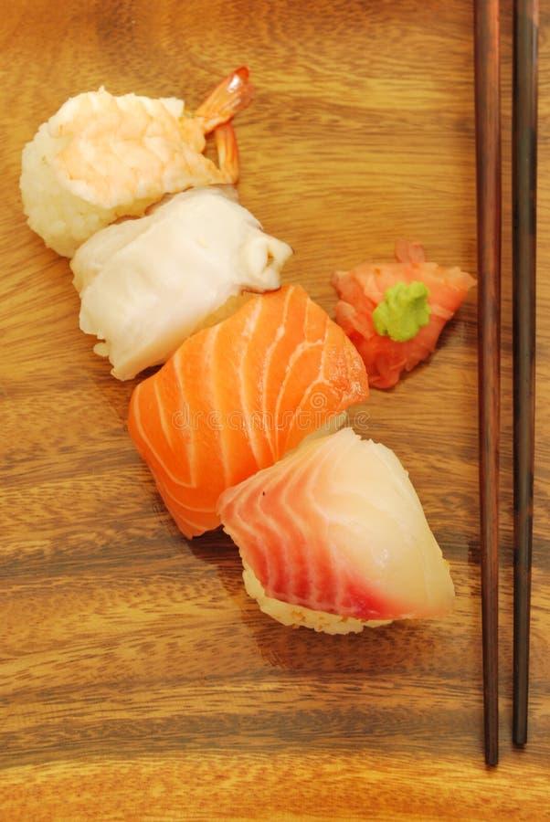 Refeição do sushi de Nigiris foto de stock