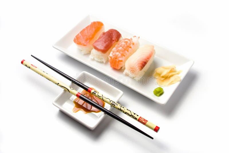 Refeição do sushi do nigiri da série do sushi fotografia de stock