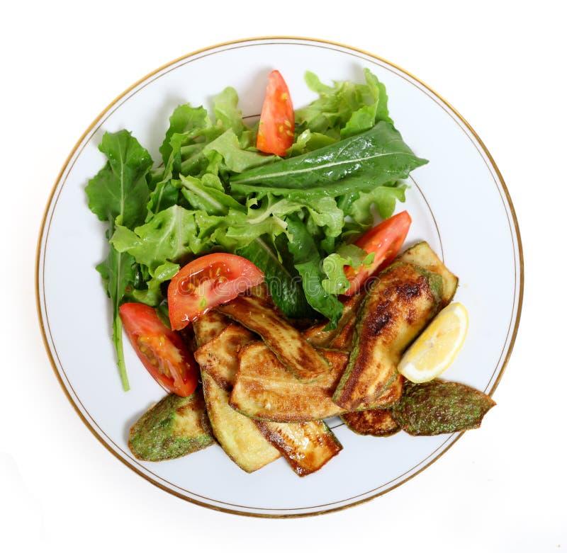 Refeição do zucchini do Vegan imagem de stock
