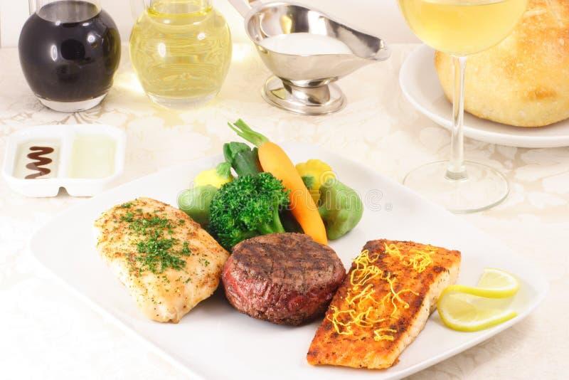 Refeição fina da culinária imagem de stock royalty free