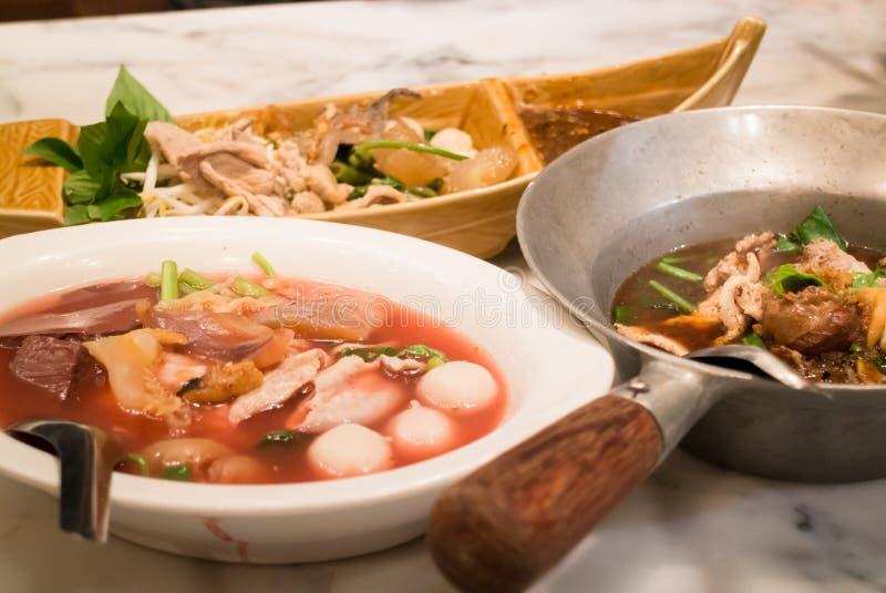 Refeição grande da sopa de macarronete denominada tailandesa imagem de stock royalty free