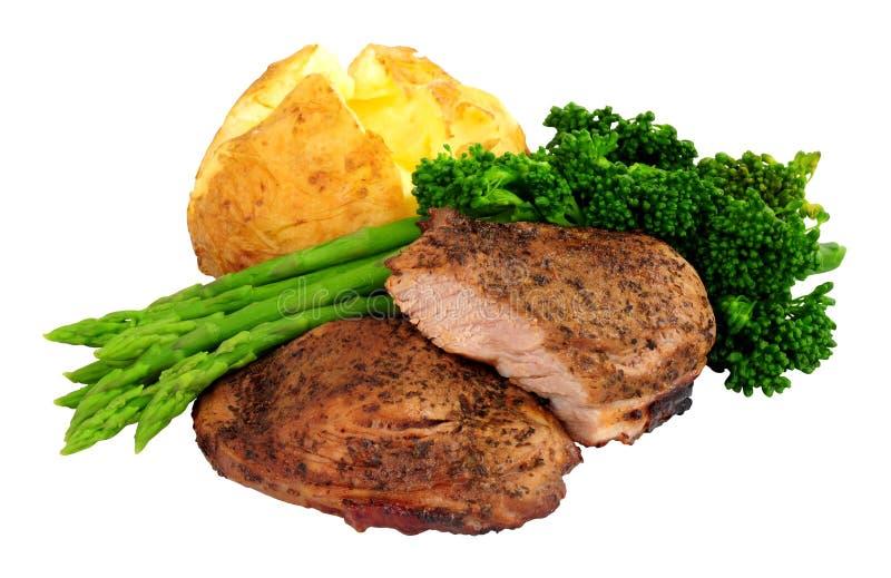 Refei??o grelhada do bife da carne do cordeiro fotografia de stock