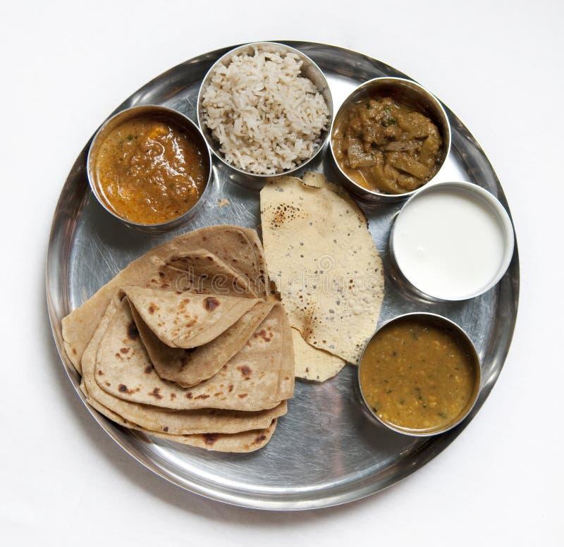 Refeição indiana tradicional de Thali foto de stock royalty free