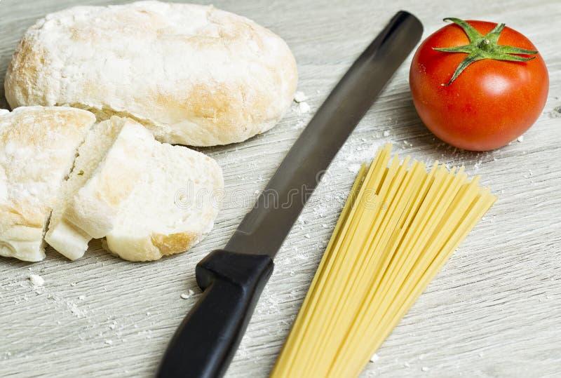 Refeição italiana foto de stock