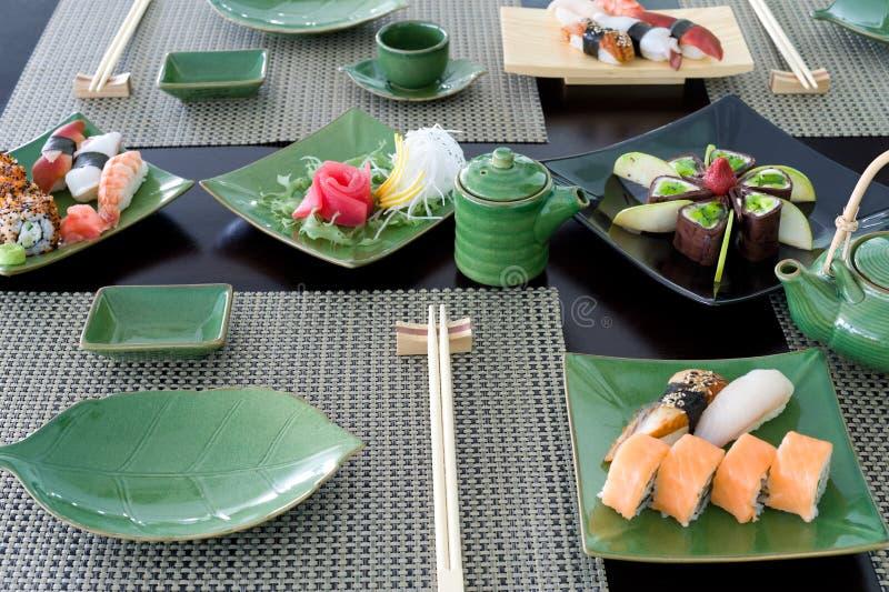 Refeição japonesa imagem de stock