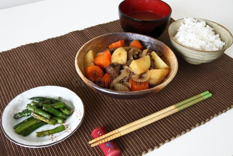 Refeição japonesa do jantar na esteira fotos de stock