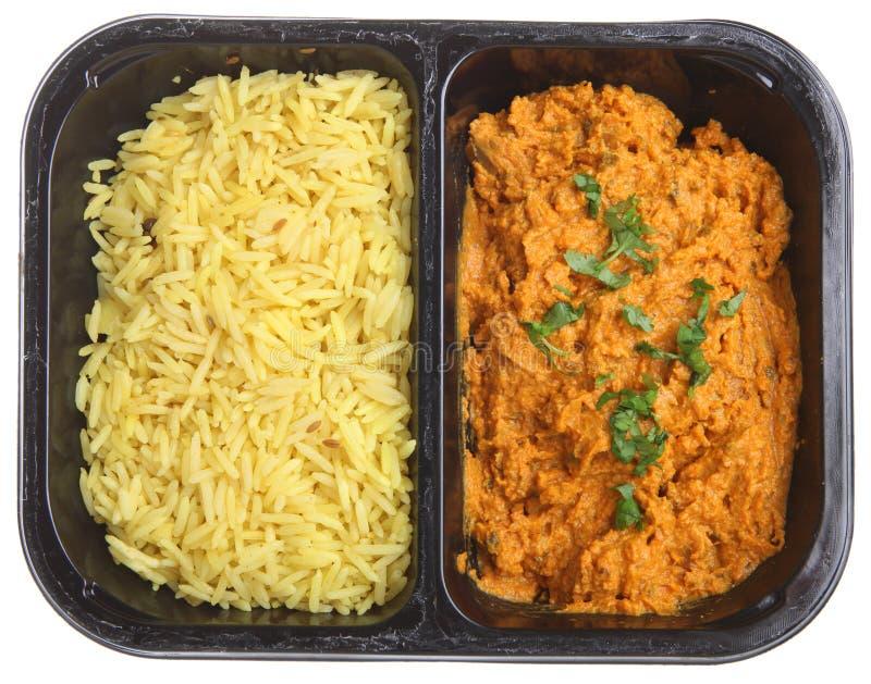 Refeição pronta do caril indiano da galinha imagem de stock royalty free