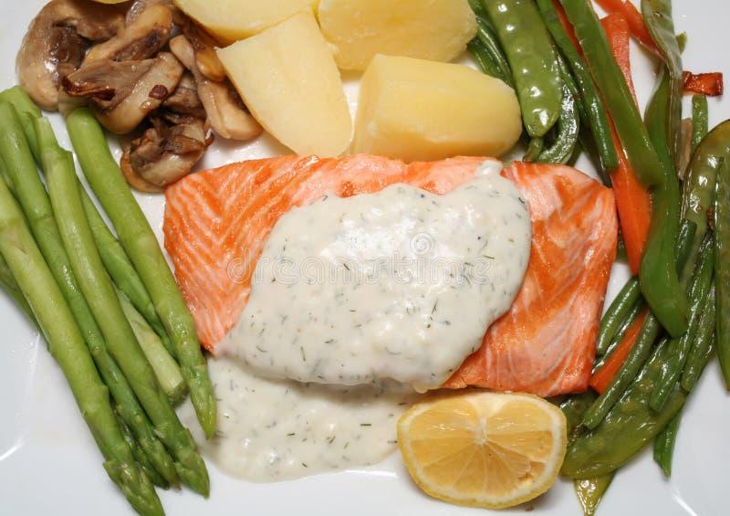 Refeição Salmon imagem de stock royalty free
