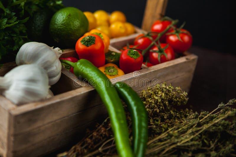 A refeição simples tradicional setup com carne e vegetais imagem de stock