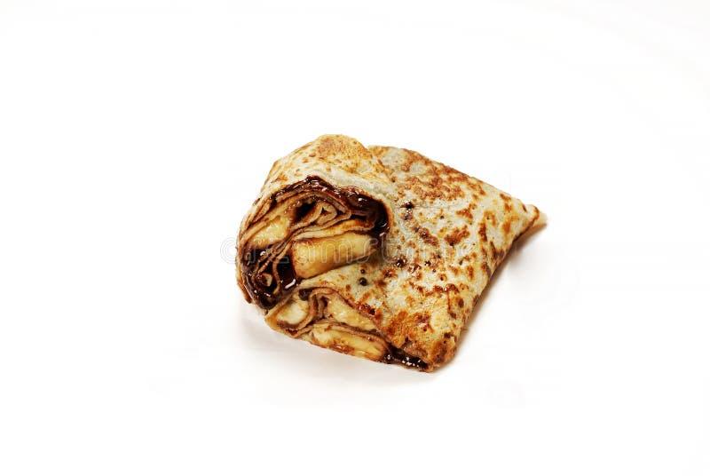 Refeição turca tradicional Gozleme com chocolate e queijo fotografia de stock royalty free