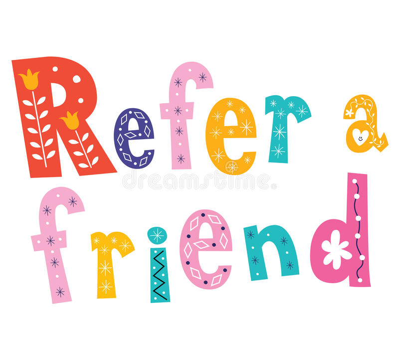 Refer a friend stock illustration