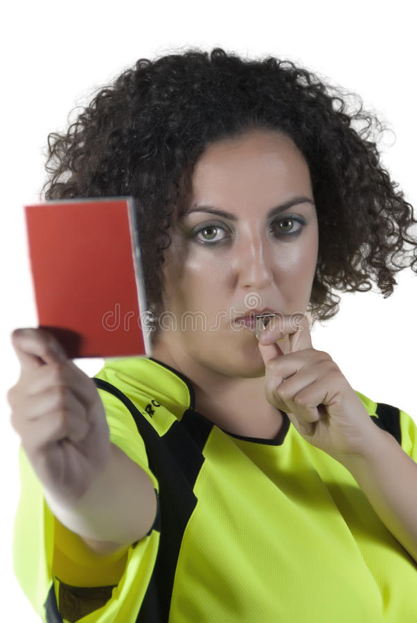 Referee stock photo