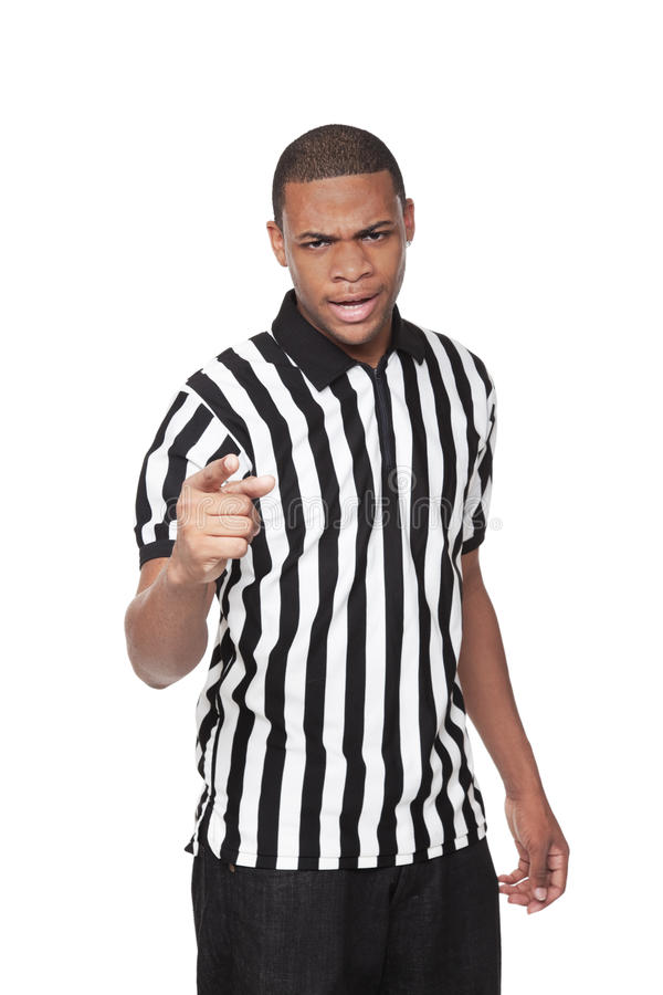 Referee - African American Man In Uniform Royalty Free Stock Images