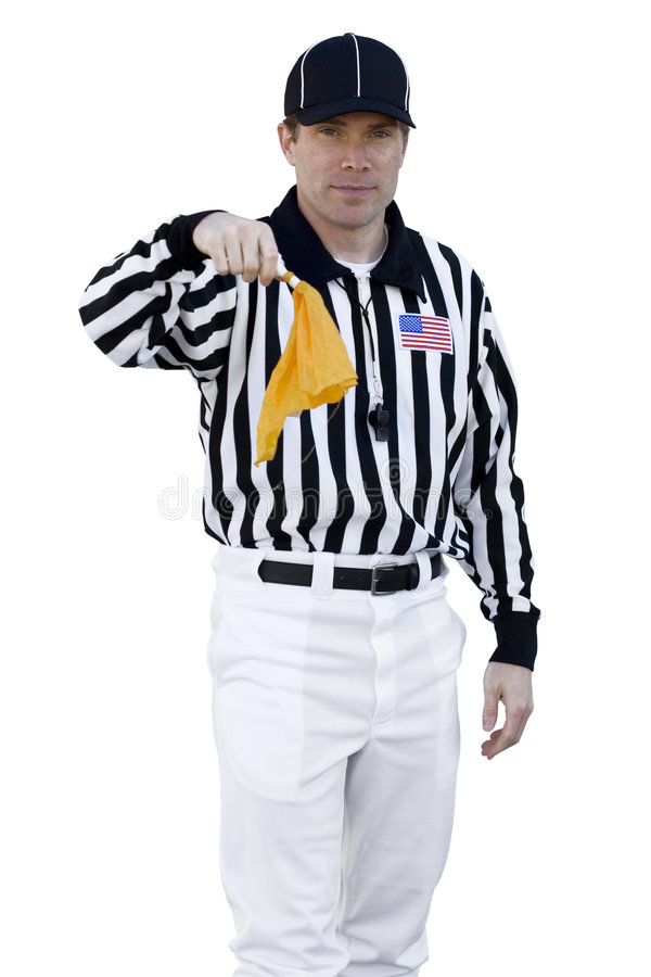 Download Referee Calling A Foul Stock Photo - Image: 7113340