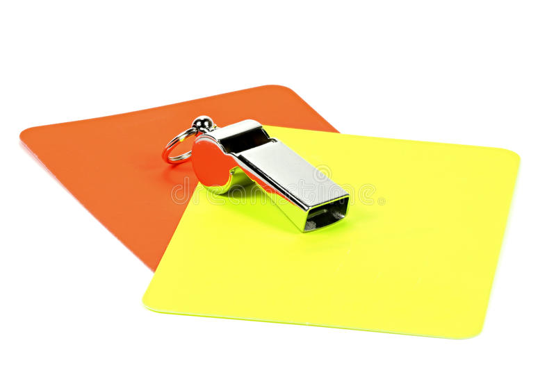 Referee equipment. On white background royalty free stock photography