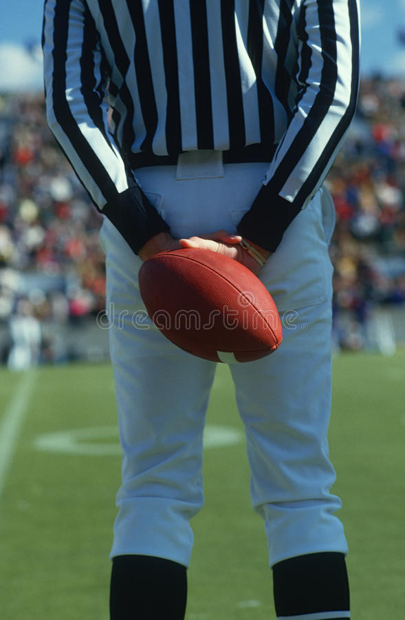 Download Referee Holding Football stock photo. Image of events - 23147778