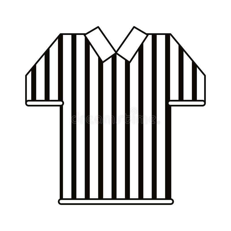 Referee jersey stripes american football outline stock illustration