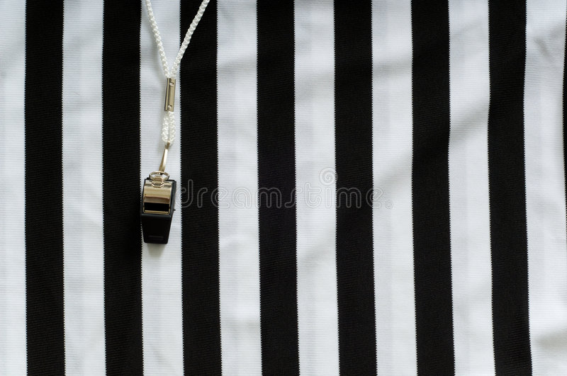 Download Referee Jersey and whistle stock photo. Image of lanyard - 3181176