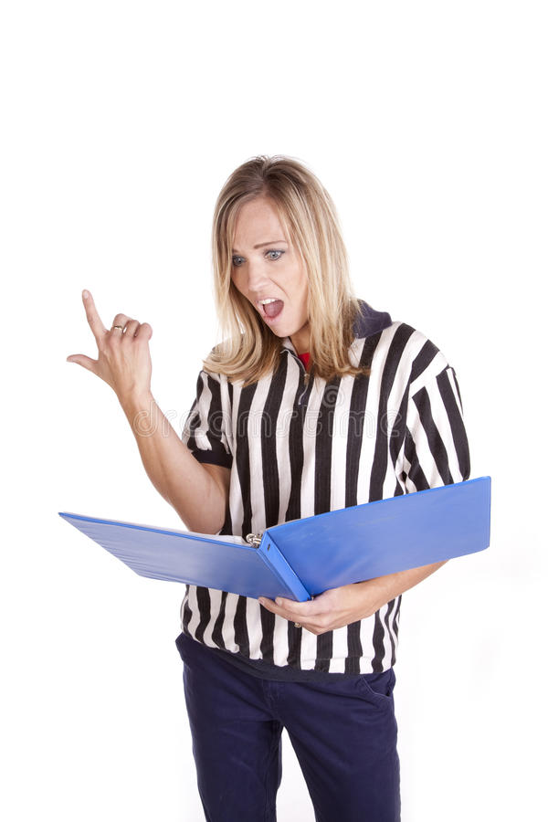 Download Referee shocked playbook stock photo. Image of beautiful - 17897222
