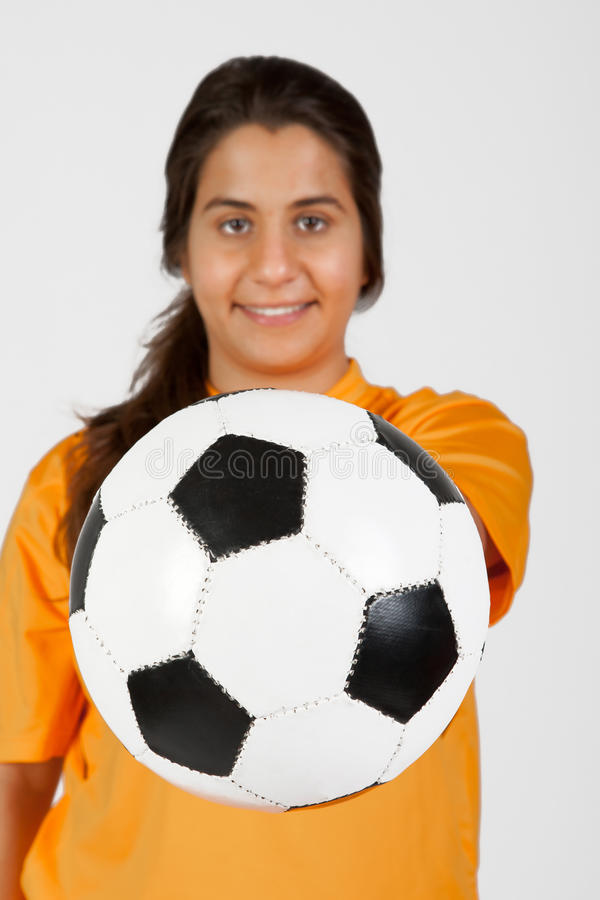 Download Referee With A Soccer Ball Royalty Free Stock Photography - Image: 23939147