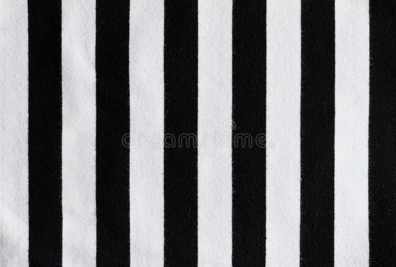 Referee stripes. On cloth fabric stock photography