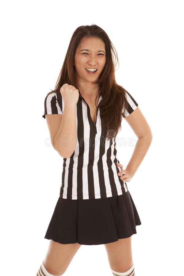 Download Referee woman punch stock photo. Image of beautiful, official - 19906540