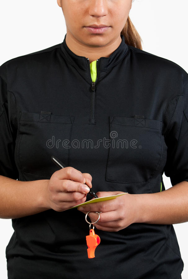 Download Referee Writing On The Card Stock Photo - Image: 23939246