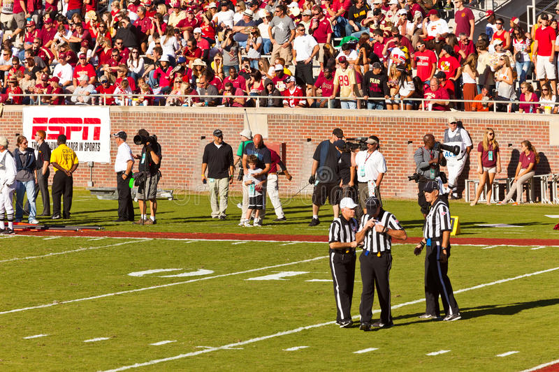 Referees at College Football Game royalty free stock images