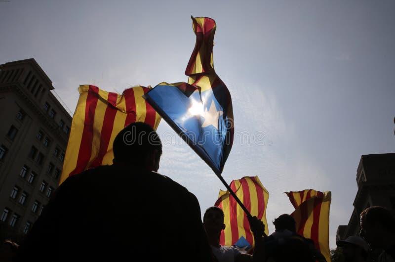 Referendum di indipendenza a Barcellona immagini stock libere da diritti