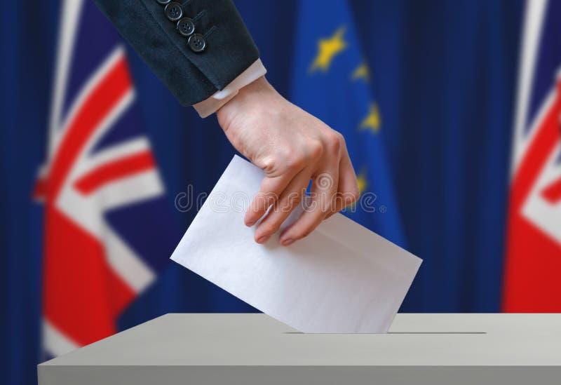 Referendum in Gran Bretagna (Brexit) circa la relazione con Unione Europea immagini stock libere da diritti