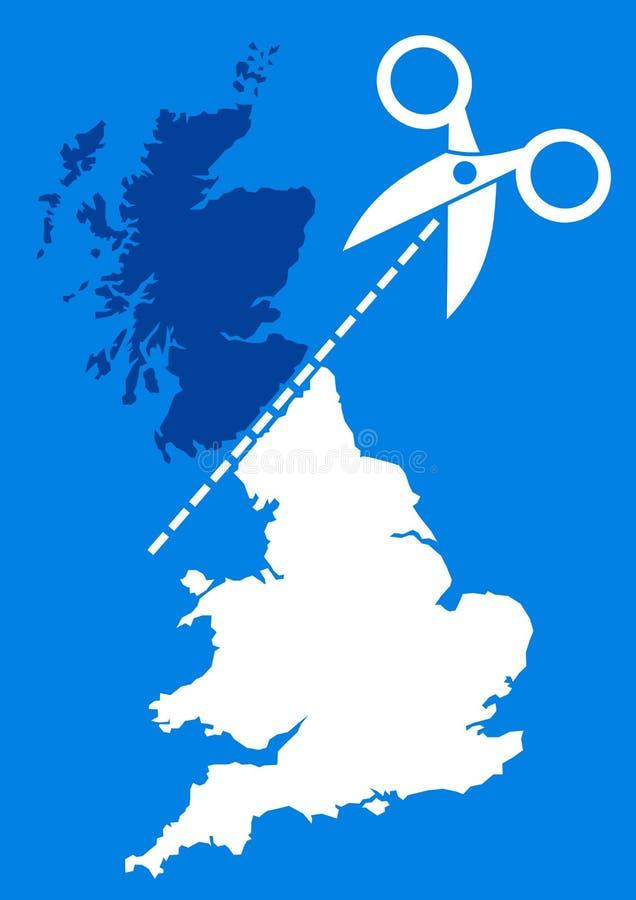 Referendum scozzese di indipendenza royalty illustrazione gratis