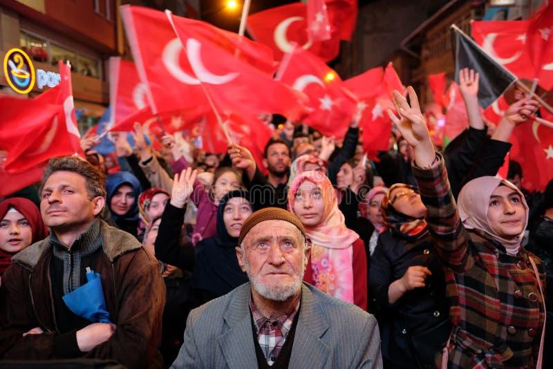 Referendum Turkey Celebration. 16/04/2017 royalty free stock images