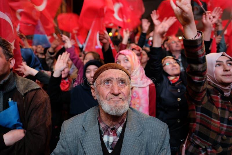 Referendum Turkey Celebration. 16/04/2017 royalty free stock photo