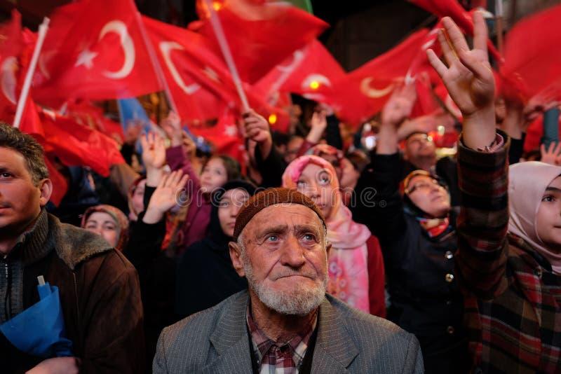 Referendum Turkey Celebration. 16/04/2017 stock photos