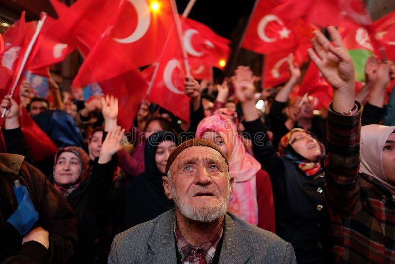 Referendum Turkey Celebration. 16/04/2017 stock photo