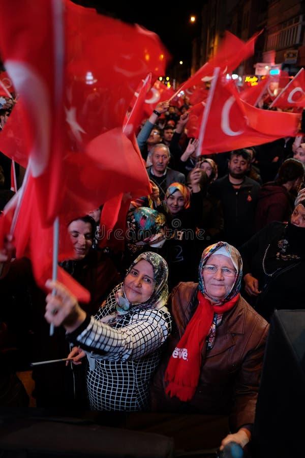 Referendum Turkey Celebration. 16/04/2017 stock image