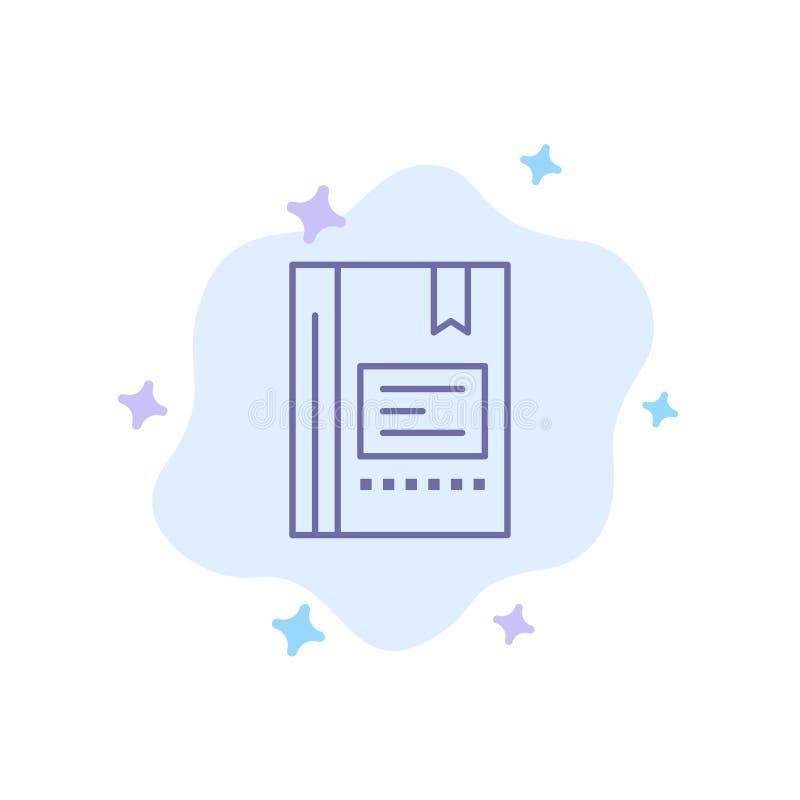 Referentie, Boek die, Onderwijs, Favoriet, Nota, Notitieboekje, Blauw Pictogram op Abstracte Wolkenachtergrond lezen vector illustratie